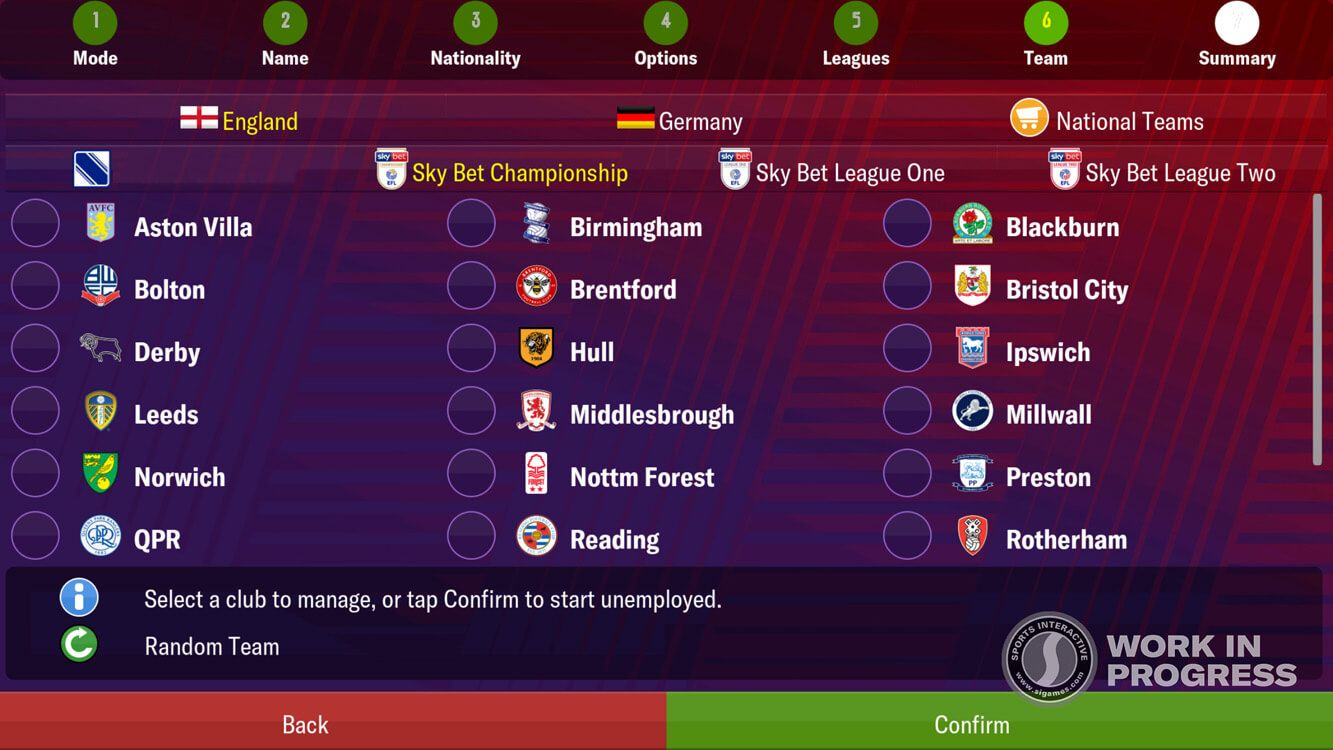 Football Manager country flag selection