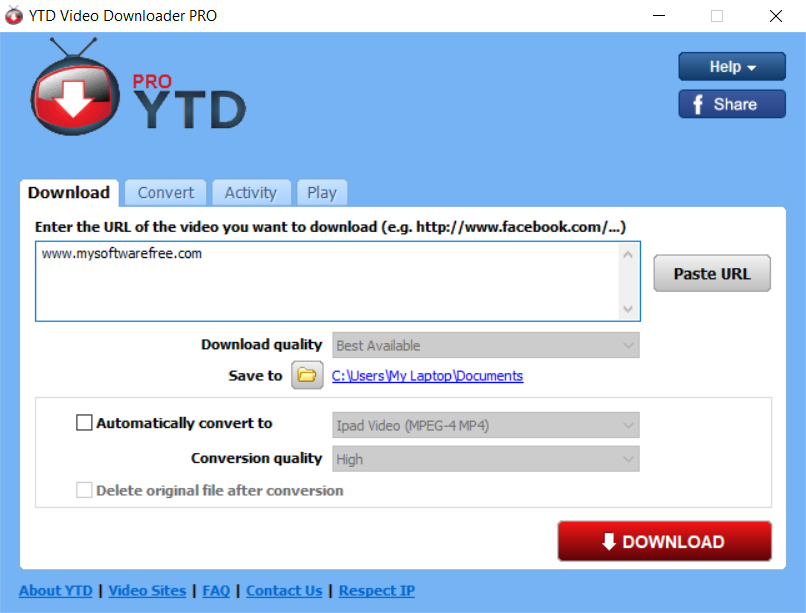 YTD Video Downloader PRO 2020 Crack With Serial Key Free Download